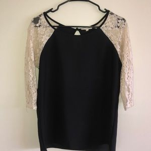 Black/Lacey Top